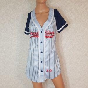 3/$24💟DREAMGIRLS Grand Slam Baseball Jersey Dress